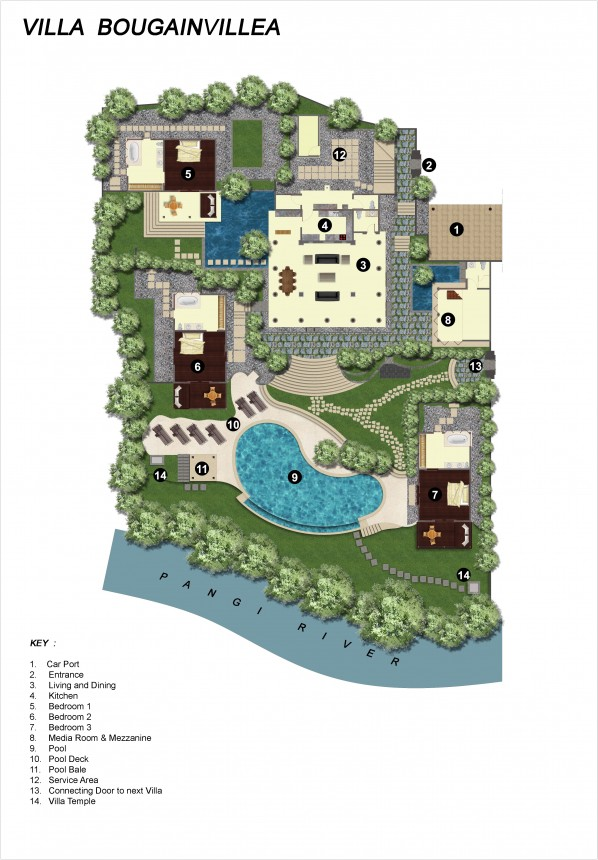 Villa Bougainvillea Floor Plan
