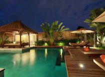 Villa Sesari, Pool at Night
